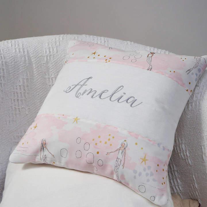 Tuppenny House Designs Mermaid Name Cushion