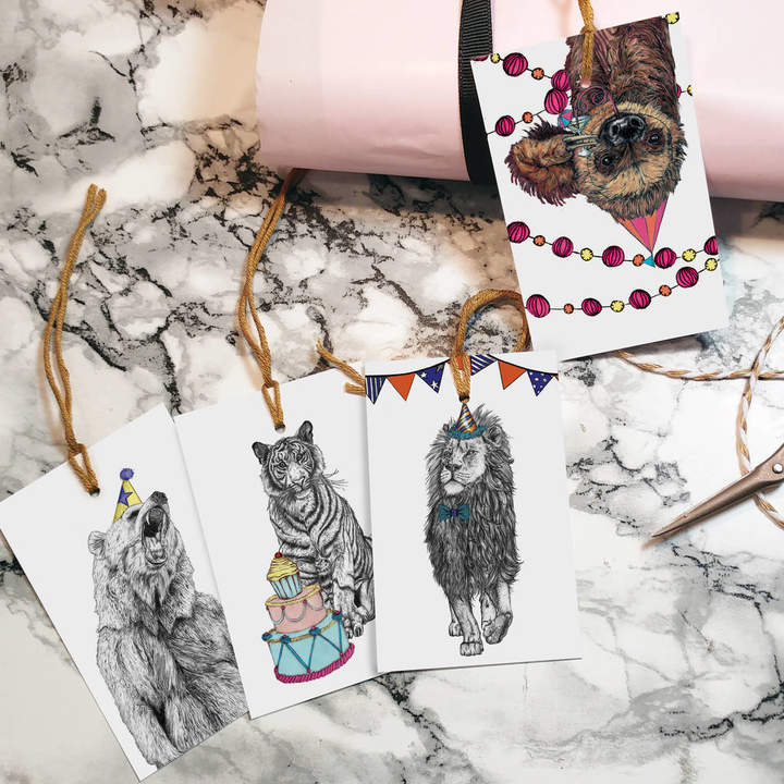 Fawn & Thistle 'Party Animals' Gift Tags