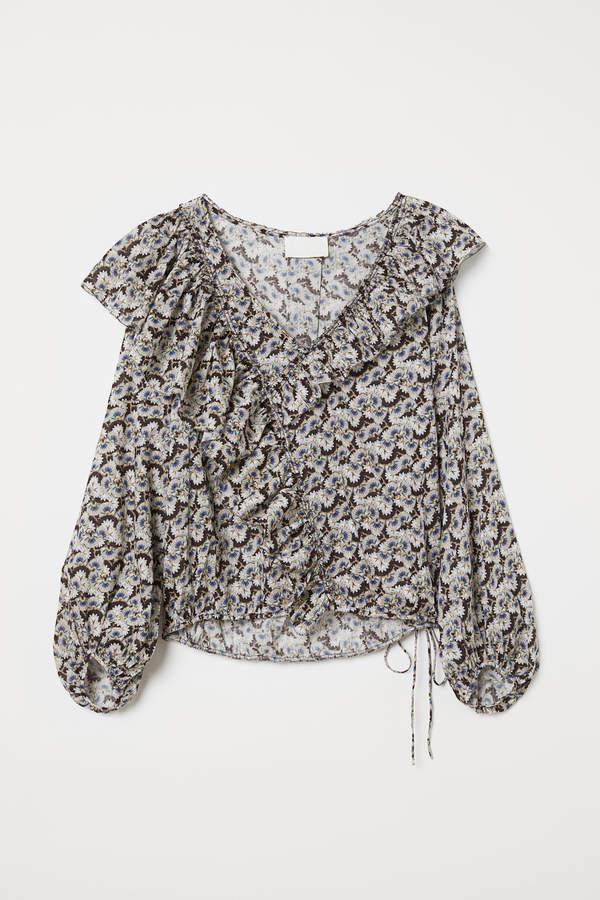 H&M Patterned cotton blouse