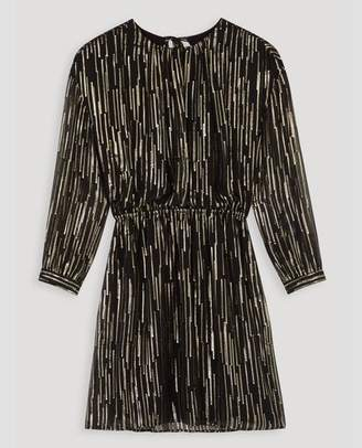 black and gold striped