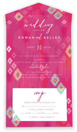 Savvy Wedding Invitations By Minted / Boho Ikat Savvy Wedding Invitations