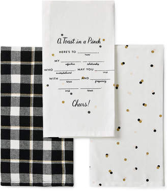 kate spade kitchen island cabinet linens shopstyle 3 pc toast in a pinch towel set