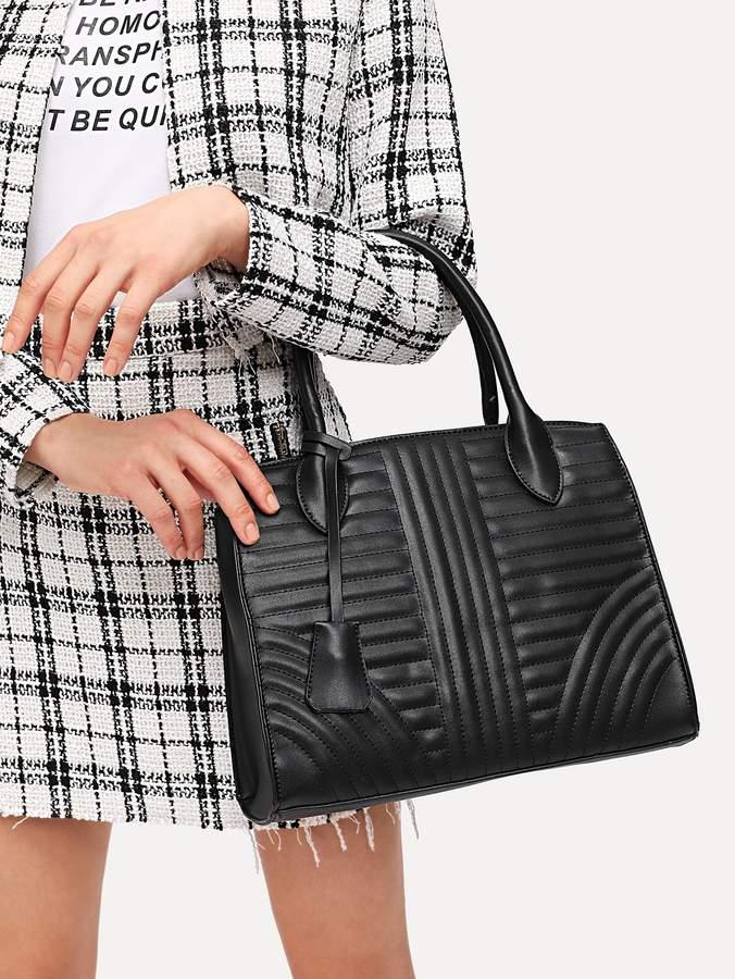 Shein Quilted Detail PU Shoulder Bag