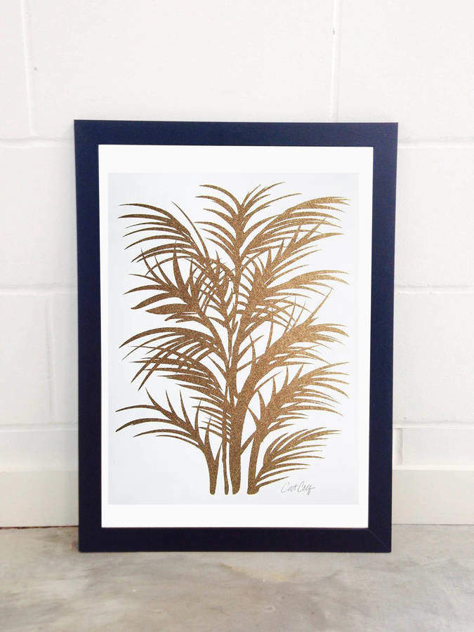 EAST END PRINTS Gold Palms By Cat Coquillette