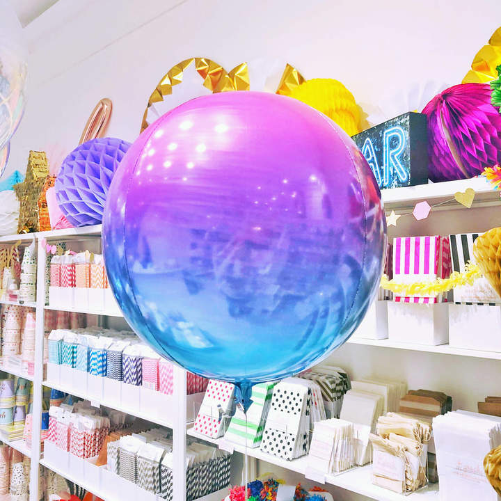 Peach Blossom Unicorn Ombre Orb Balloon Party Decoration