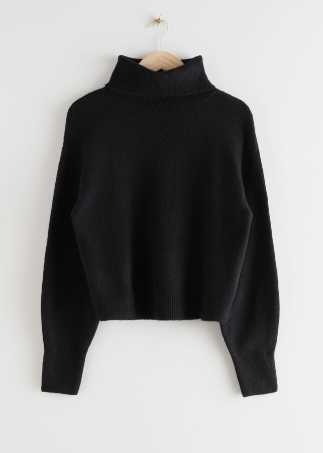 & Other Stories Boxy Double Knit Turtleneck Sweater