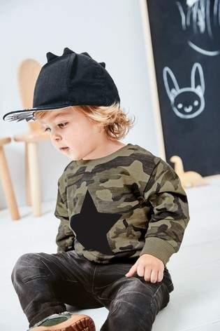 Boys Next Black Dino Spikes Cap (Younger)