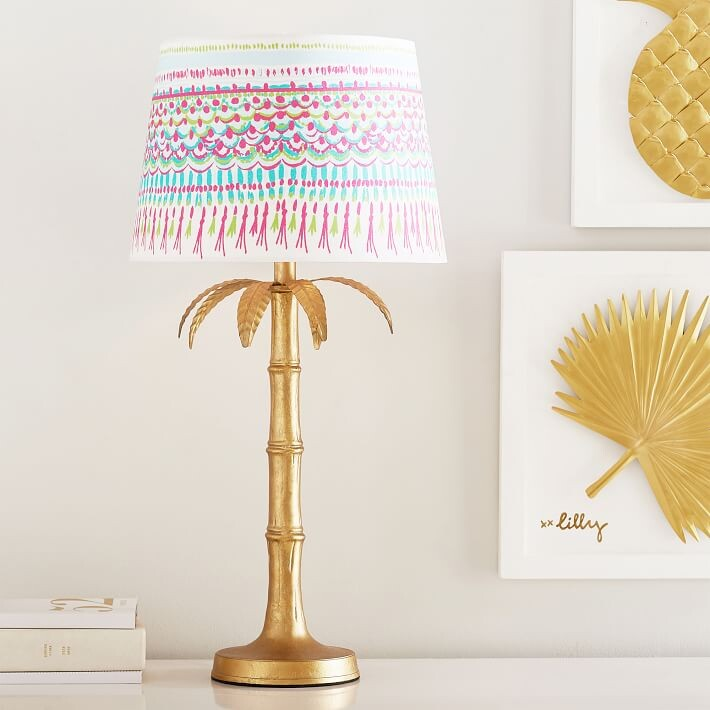 lilly pulitzer polished palm table lamp