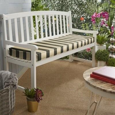 indoor outdoor sunbrella bench cushion size 2 h x 44 w x 19 d