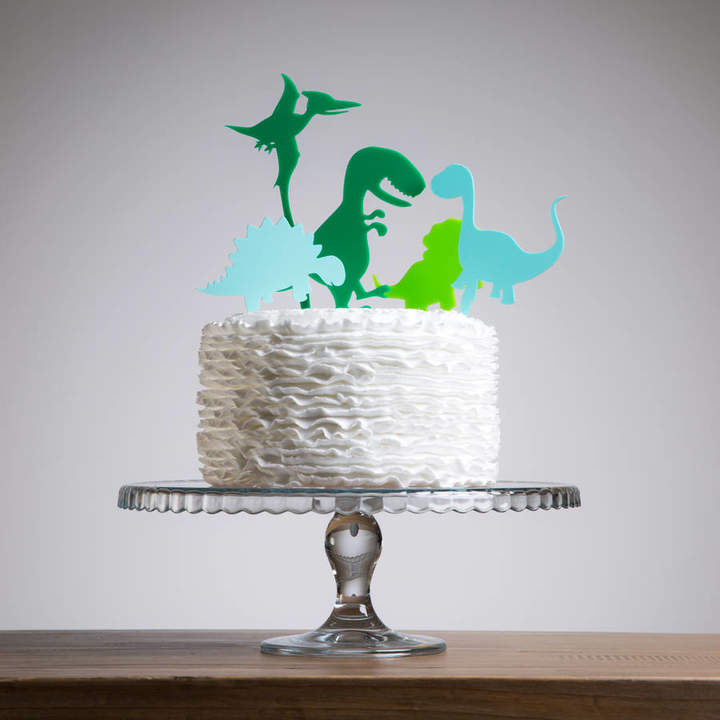 Funky Laser Mini Dinosaurs Party Cake Topper Collection