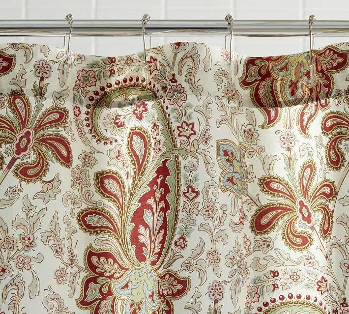 charlie paisley organic shower curtain