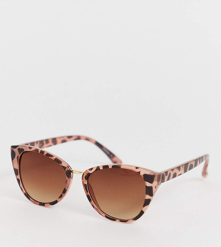 Accessorize Claire pink tort angular sunglasses