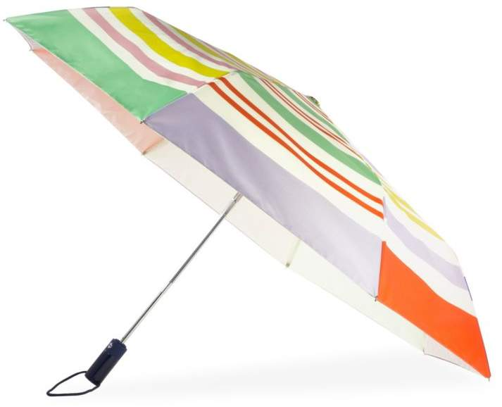 Kate Spade New York Rainbow Stripe Packable Travel Umbrella