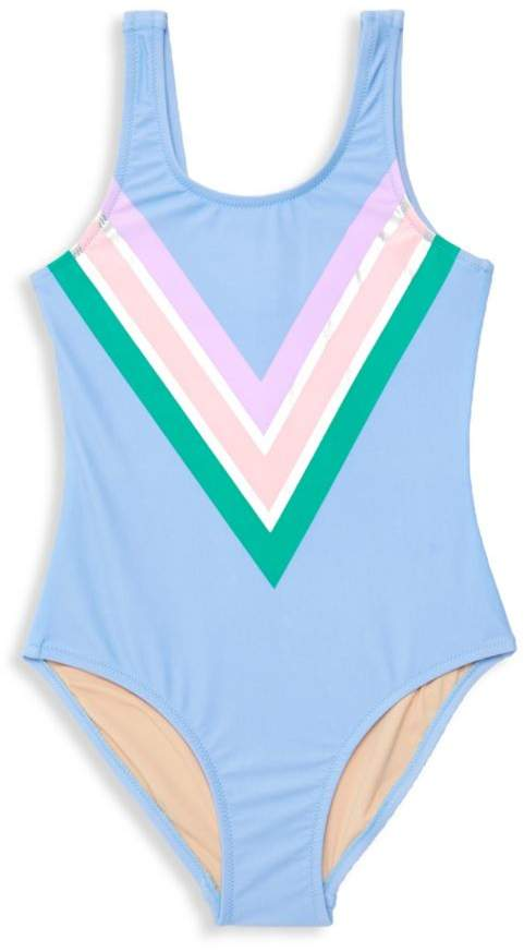 Shade Critters Girl's It's All Rainbows One-Piece Swimsuit