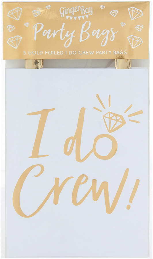 Accessorize 5x I Do Crew Party Bags