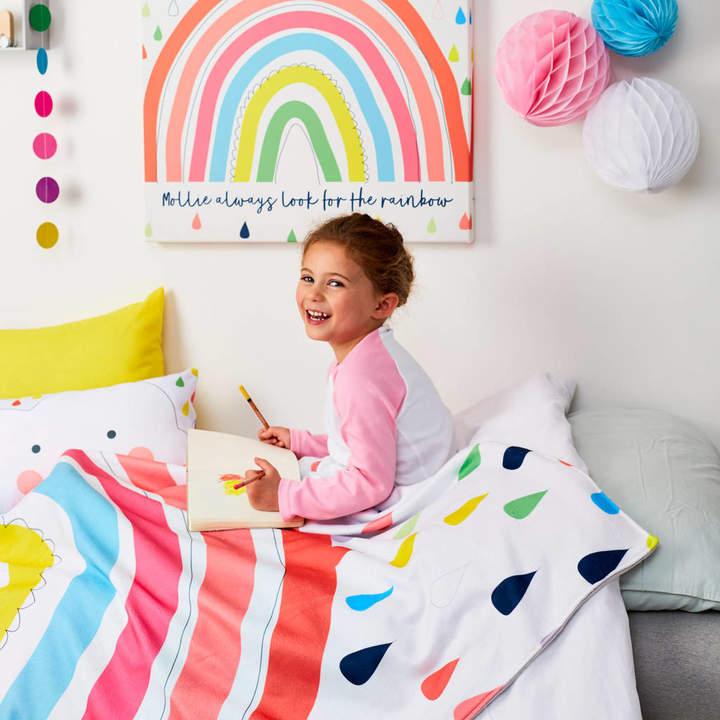 TillieMint Children's Rainbow Personalised Blanket