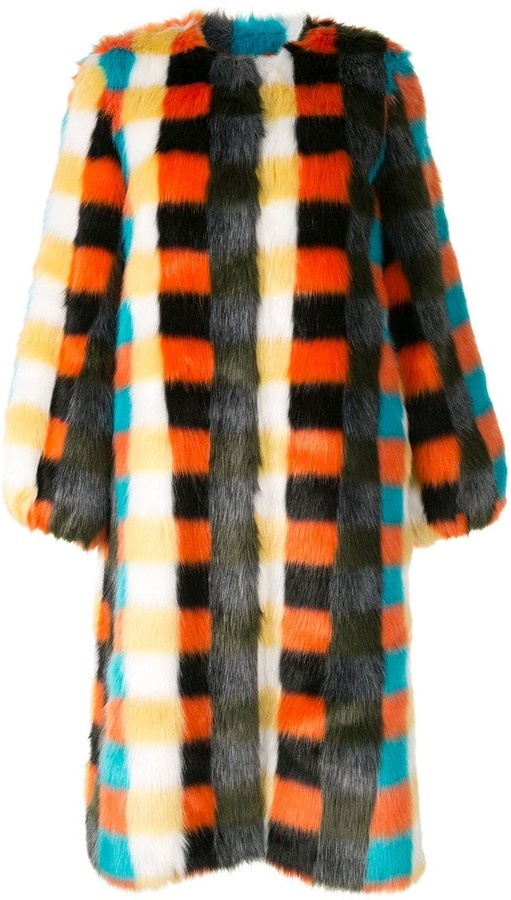 Estelle check coat