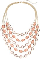 Loli Bijoux LOLI BIJOUX Breast Cancer Awareness Pink Layered Necklace