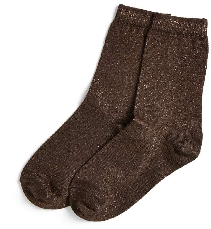 Jigsaw Metallic Glitter Ankle Socks
