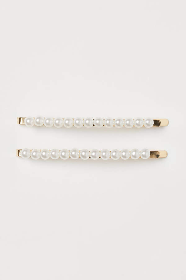 H&M - 2-pack Hair Clips - White