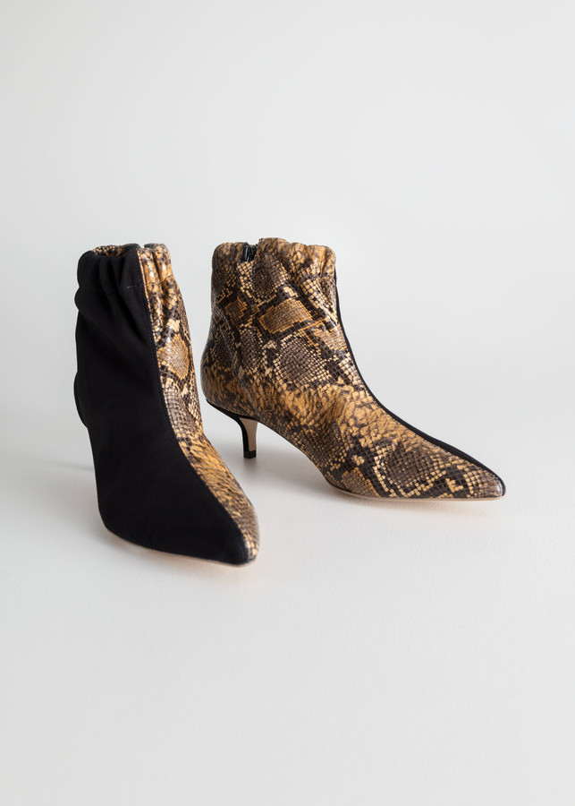And other stories Gathered Kitten Heel Boots