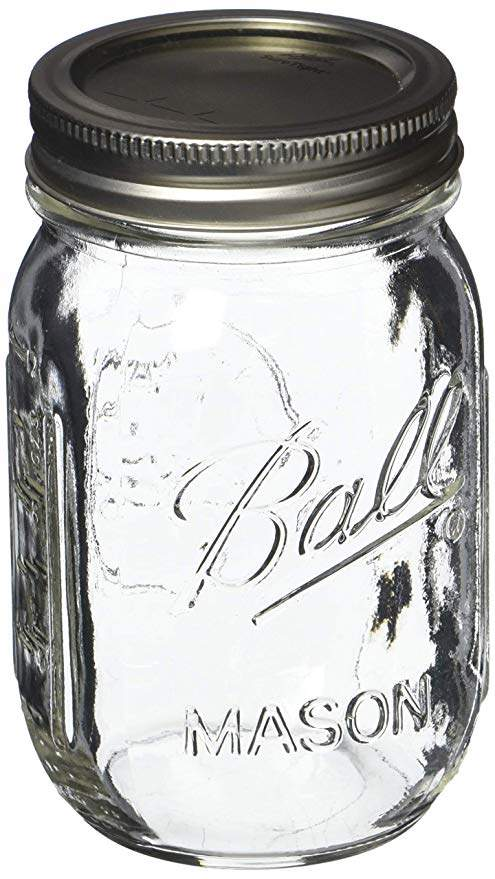 Ball Pint Mason Jar, Regular Mouth, 16 oz