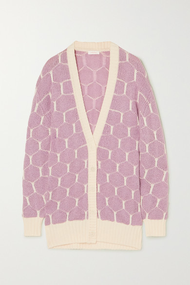 See By Chloé See By Chloe - Jacquard-knit Cardigan - Lilac