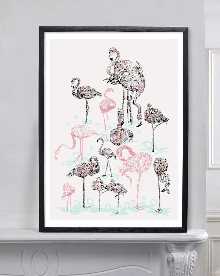 Magnolia Box Pink Flamingos By Susie Wright