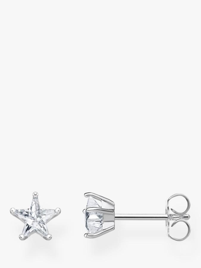 Thomas Sabo THOMAS SABO Cubic Zirconia Star Stud Earrings, Silver