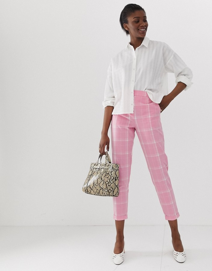 Vero Moda bright check pants