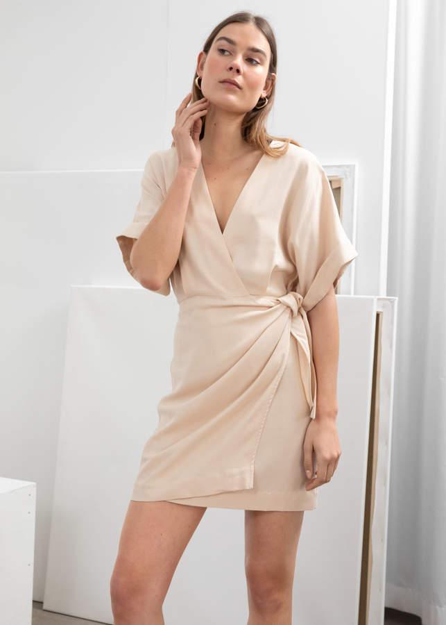 And other stories Kimono Wrap Mini Dress