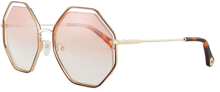 Chloe Poppy Geometric Sunglasses