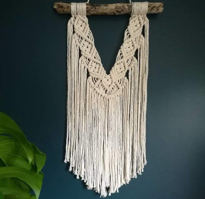 Fringe & Fray Macrame Wall Hanging Hand Crafted