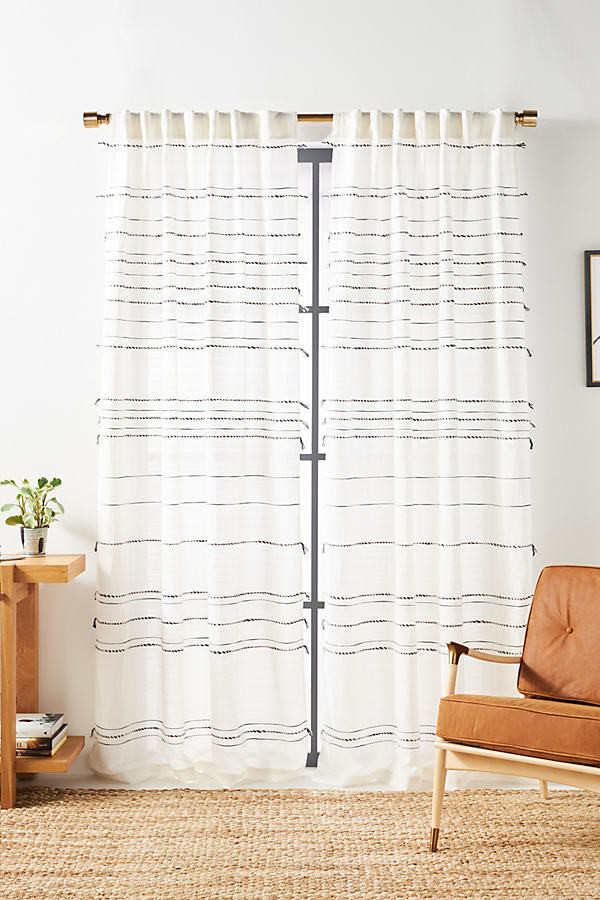 woven taylor striped curtain by in white size 50x63