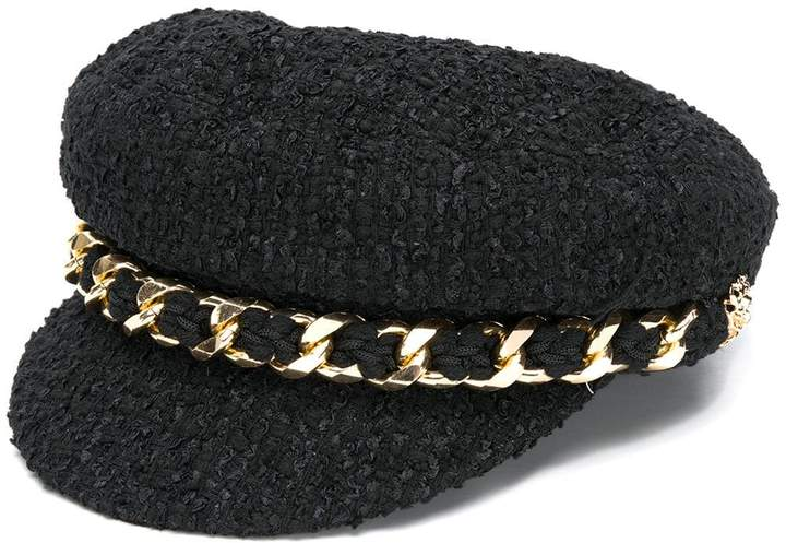Edward Achour Paris textured baker boy hat