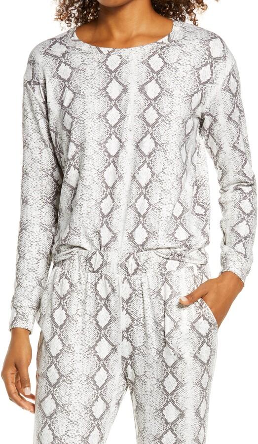 Socialite - grey snakeskin print sweatshirt