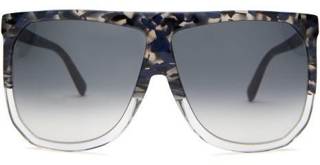 Loewe - Filipa Oversized Flat-top Acetate Sunglasses - Black