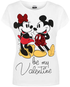 George Disney Mickey and Minnie Mouse Valentines T-Shirt