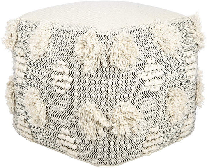 A By Amara A by Amara - Woodstock Tasseled Pouf - Square