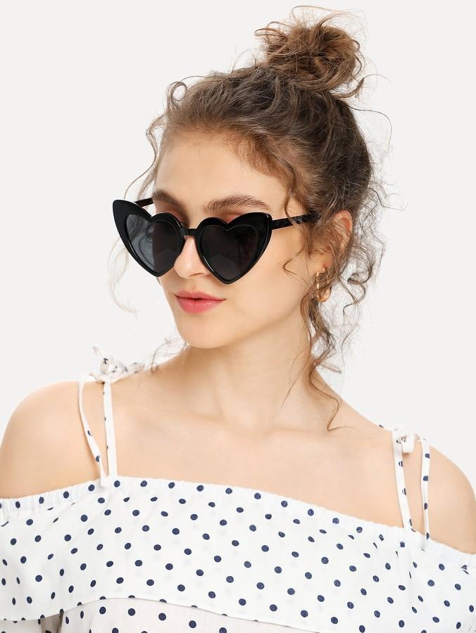 Shein Heart Shaped Frame Sunglasses