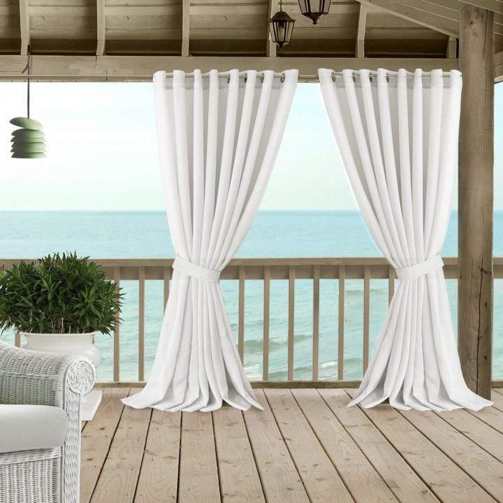 carmen sheer indoor outdoor tieback curtain panel 114 x 95