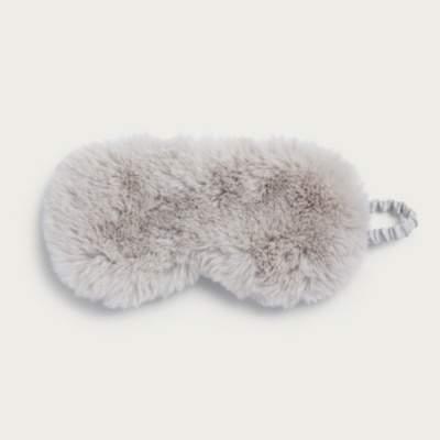 The White Company Fluffy Sleep Eye Mask, Pale Pink, One Size