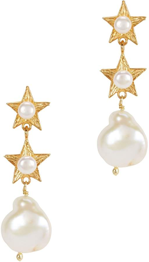 Soru Jewellery Electra 18kt Gold-plated Drop Earrings