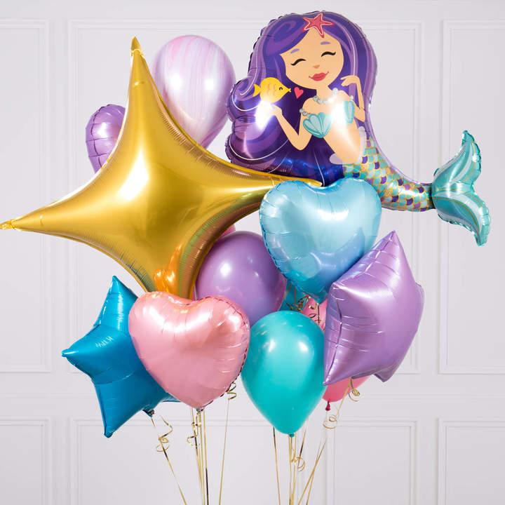 Bubblegum Balloons Mermaid Crazy Party Balloon Bunch