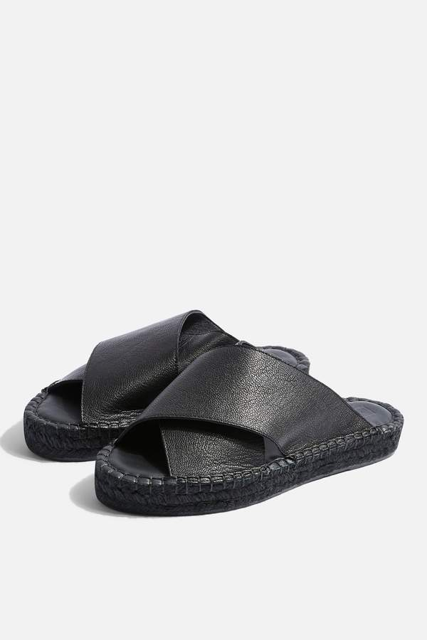 Topshop Womens Freddy Black Espadrille Sandals - Black