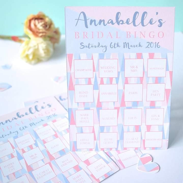 Rock, Paper, Stars Hen Party Bridal Bingo Game