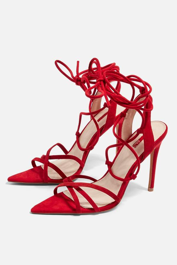 Topshop Womens Royal Pointed Heels - Red