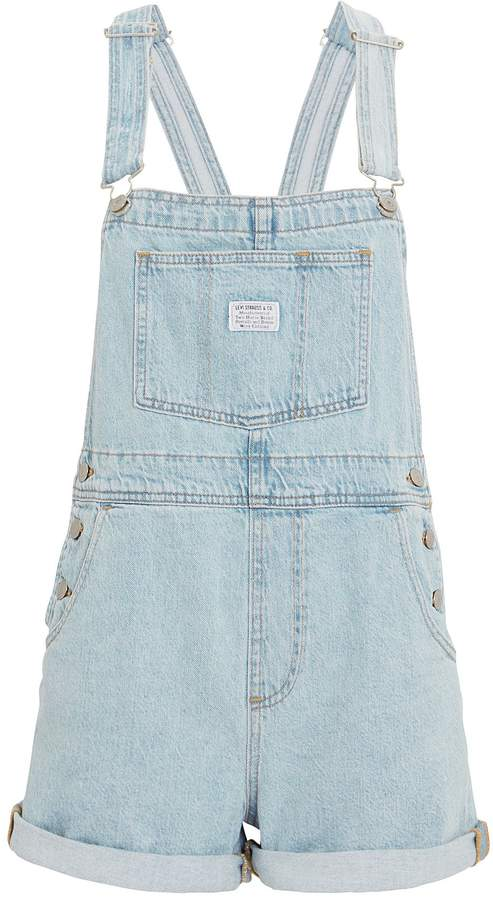 Levi's Denim Short Overalls