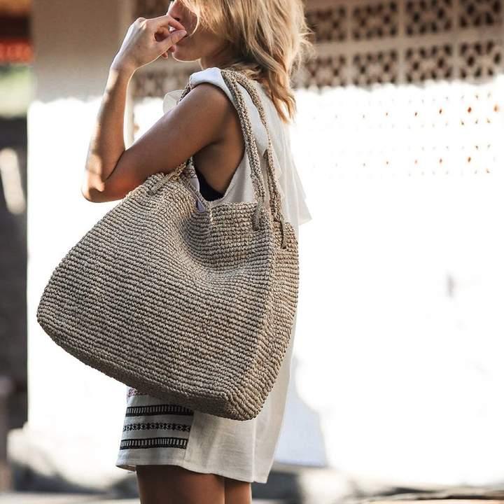 asunsti The Perfect Everyday Straw Tote Handbag