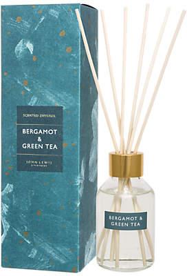 John Lewis & Partners Bergamot & Green Tea Reed Diffuser, 100ml